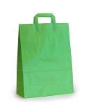 papieren draagtassen 22x10x28cm groen