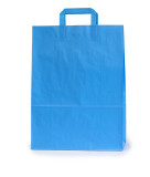 papieren draagtassen 22x10x28cm blauw